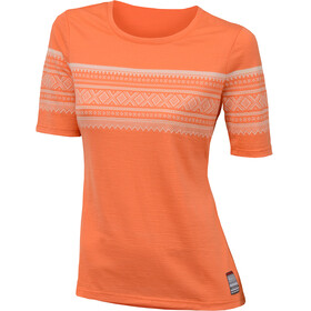 Aclima W's DesignWool Marius Merino T-Shirt Coral Rose